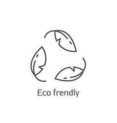 eco frendly leaves concept icon ecology recycling vector image