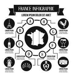 France infographic concept simple style vector