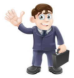 happy cartoon business man vector image