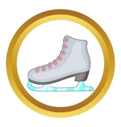 Ice skate boot icon vector image