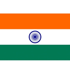 Indian flag vector image vector image