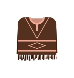 Mexican poncho icon flat style vector