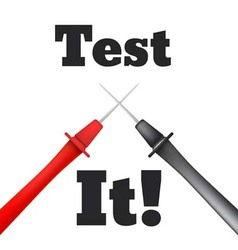 Multimeter probe isolated test it vector