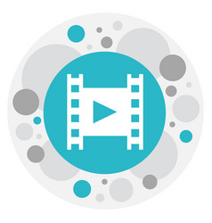 Of cinema symbol on reel icon vector