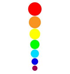 rainbow circles vector image