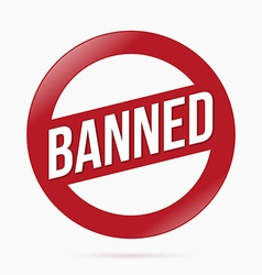 Red Banned sign vector image vector image
