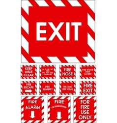 Red signs vector image