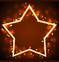 Star frame border vector