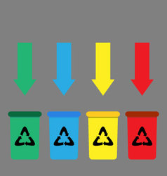 Trah bin set vector image