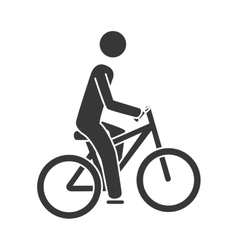 Bike sport cycling icon vector