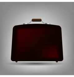 Blue suitcase icon vector