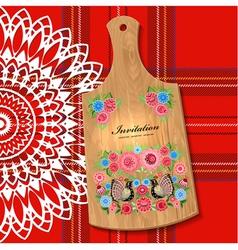wooden utensil5 vector image