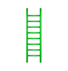Wooden ladder in green design vector