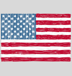 Hand drawn united states of america flag vector