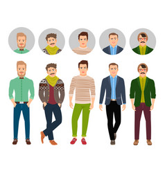 Confident fashion man in casual clothes vector