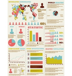 Infographic demographic modern new style vector