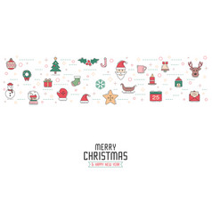 Christmas greeting card or invitation background vector