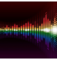 Rainbow equalizer background vector