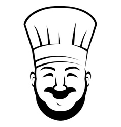 Smiling chef with a beard and moustache vector image