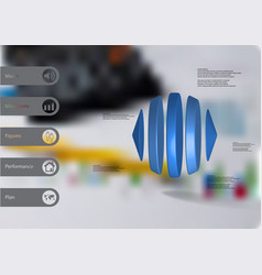 3d infographic template with two cones and three vector