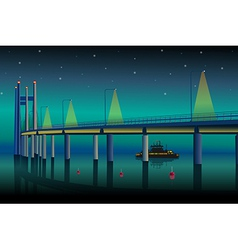 Modern bridge vector