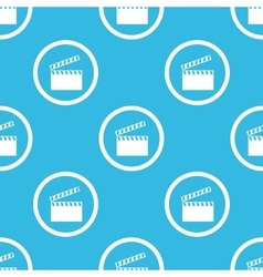 Clapperboard sign blue pattern vector