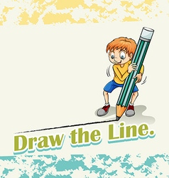 Idiom draw the line vector
