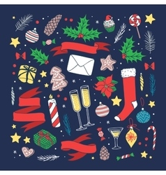 Christmas greeting card background vector