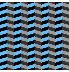 Wavy zig zag seamless pattern blue gray and black vector image