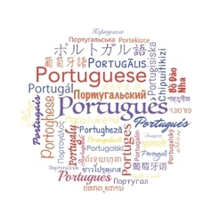 Portuguese language collage vector image