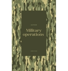 Khaki book cover vector