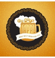 Beer mug and lettering Do more what mak vector image