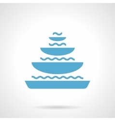 Pyramidal fountain glyph style icon vector