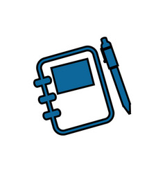 Adress book with pen vector