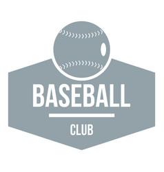 baseball logo simple gray style vector image vector image