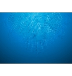Blue geometric technology drawing background vector