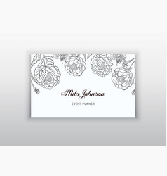 Business card template design element can be vector