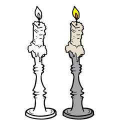 Candle design vector