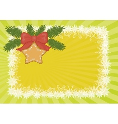 Christmas background with star and snowflakes vector image vector image
