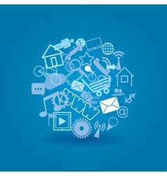 cloud media vector image vector image