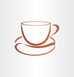 coffee cup with coffee bean vector image