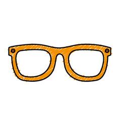 Eye glasses fashion icon vector