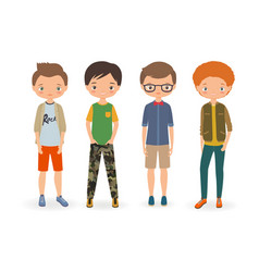 fashion stylish boys vector image vector image