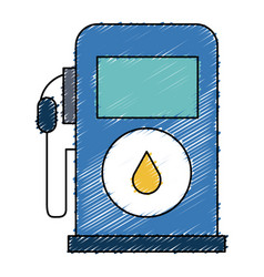 Gas station pump icon vector