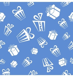 Gift pattern background vector image