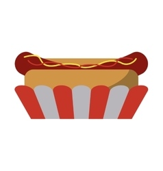 Hot dog fast food american football vector