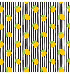 Lemon hand drawn sketch striped seamless pattern vector