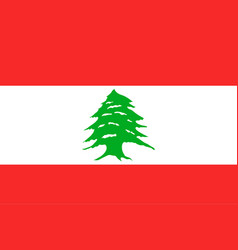 national flag of lebanese republic vector image vector image