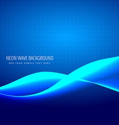 neon blue wave vector image vector image