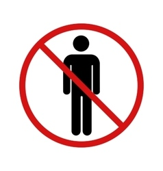 No stay zone forbidden sign on white vector image